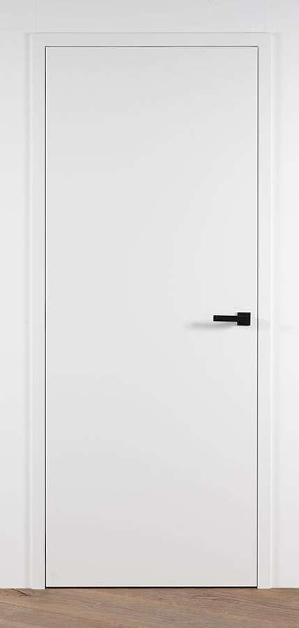 L-Frame-RAL9003-satijnlak-met-deurkruk-Venus-black